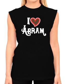 I Love Abram T-Shirt - Sleeveless-Womens