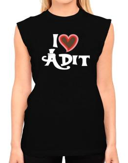 I Love Adit T-Shirt - Sleeveless-Womens