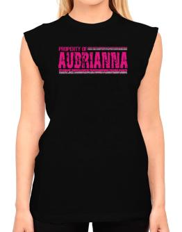 Property Of Aubrianna - Vintage T-Shirt - Sleeveless-Womens