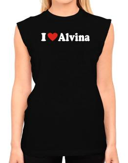 I Love Alvina T-Shirt - Sleeveless-Womens
