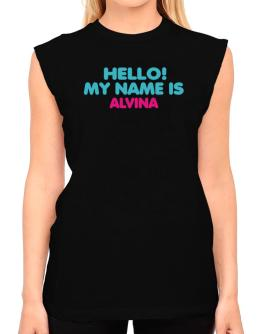 Hello! My Name Is Alvina T-Shirt - Sleeveless-Womens
