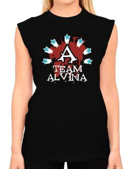 Team Alvina - Initial T-Shirt - Sleeveless-Womens