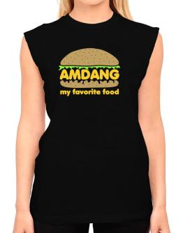 Amdang My Favorite Food T-Shirt - Sleeveless-Womens