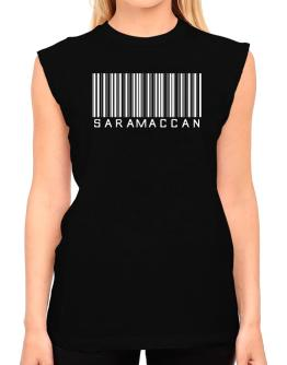Saramaccan Barcode T-Shirt - Sleeveless-Womens