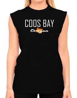 """ Coos Bay - State Map "" T-Shirt - Sleeveless-Womens"