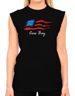 Coos Bay - Us Flag T-Shirt - Sleeveless-Womens