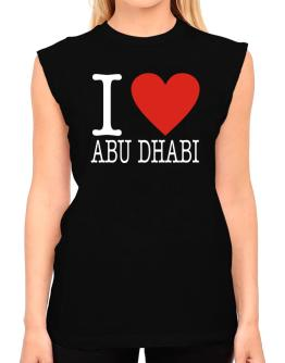 I Love Abu Dhabi Classic T-Shirt - Sleeveless-Womens