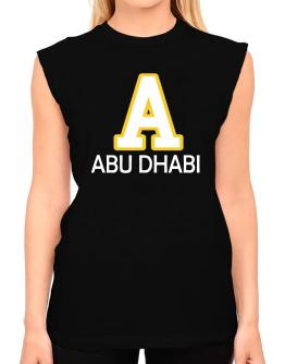 """ Abu Dhabi - Initial "" T-Shirt - Sleeveless-Womens"
