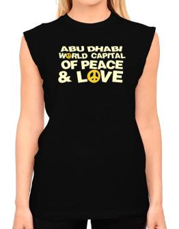 Abu Dhabi World Capital Of Peace And Love T-Shirt - Sleeveless-Womens