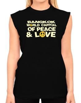Bangkok World Capital Of Peace And Love T-Shirt - Sleeveless-Womens