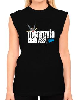 Monrovia Kicks Ass T-Shirt - Sleeveless-Womens