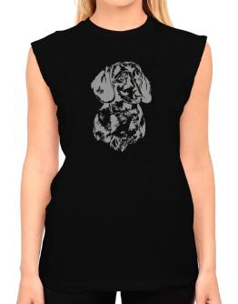 Dachshund Face Special Graphic T-Shirt - Sleeveless-Womens