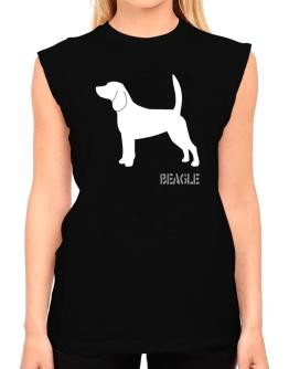 Beagle Stencil / Chees T-Shirt - Sleeveless-Womens