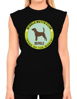 Beagle - Wiggle Butts Club T-Shirt - Sleeveless-Womens