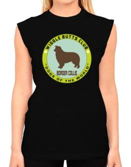 Border Collie - Wiggle Butts Club T-Shirt - Sleeveless-Womens