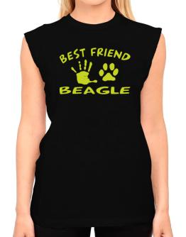 My Best Friend Is My Beagle T-Shirt - Sleeveless-Womens