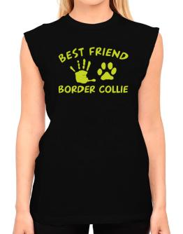 My Best Friend Is My Border Collie T-Shirt - Sleeveless-Womens