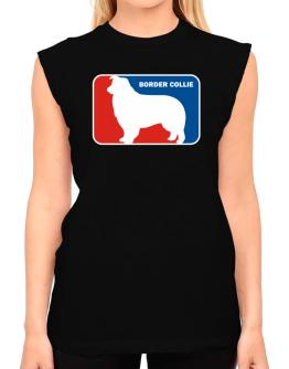 Border Collie Sports Logo T-Shirt - Sleeveless-Womens