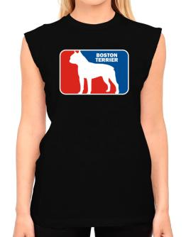 Boston Terrier Sports Logo T-Shirt - Sleeveless-Womens