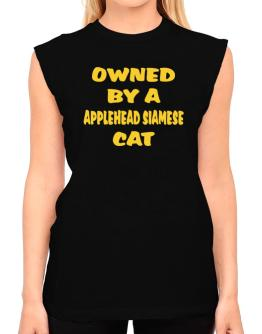 Owned By S Applehead Siamese T-Shirt - Sleeveless-Womens