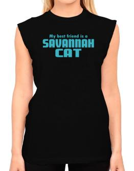 My Best Friend Is A Savannah T-Shirt - Sleeveless-Womens