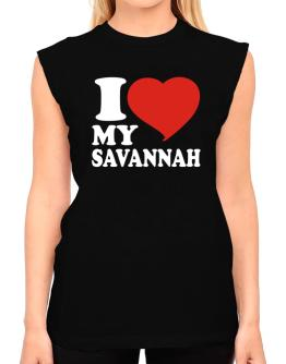 I Love My Savannah T-Shirt - Sleeveless-Womens