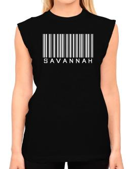 Savannah Barcode T-Shirt - Sleeveless-Womens
