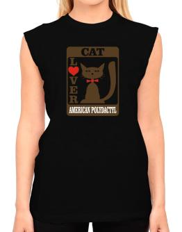 Cat Lover - American Polydactyl T-Shirt - Sleeveless-Womens