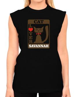 Cat Lover - Savannah T-Shirt - Sleeveless-Womens