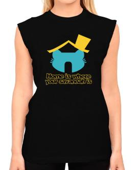 Home Is Where Savannah Is T-Shirt - Sleeveless-Womens