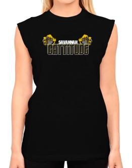 Savannah Cattitude T-Shirt - Sleeveless-Womens