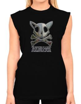 The Greatnes Of A Nation - Hemingway Cats T-Shirt - Sleeveless-Womens