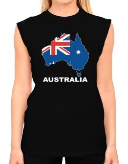 Australia - Country Map Color T-Shirt - Sleeveless-Womens