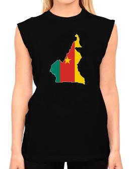 Cameroon - Country Map Color Simple T-Shirt - Sleeveless-Womens