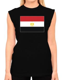 Egypt Flag T-Shirt - Sleeveless-Womens