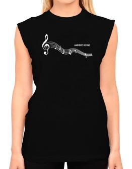 Ambient House - Notes T-Shirt - Sleeveless-Womens