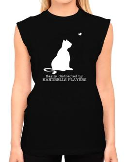 Easily Distracted By Handbells Players T-Shirt - Sleeveless-Womens