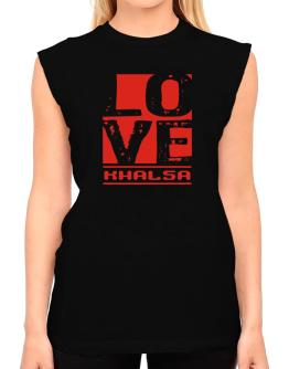Love Khalsa T-Shirt - Sleeveless-Womens