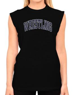 Wrestling Athletic Dept T-Shirt - Sleeveless-Womens
