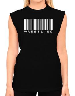 Wrestling Barcode / Bar Code T-Shirt - Sleeveless-Womens