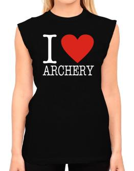 I Love Archery Classic T-Shirt - Sleeveless-Womens