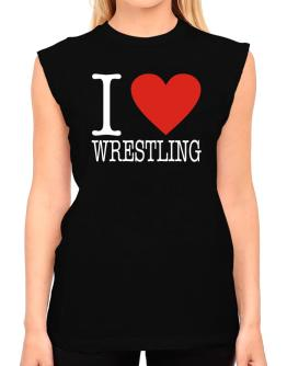 I Love Wrestling Classic T-Shirt - Sleeveless-Womens