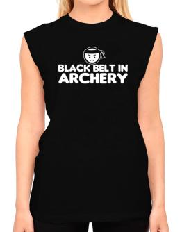Black Belt In Archery T-Shirt - Sleeveless-Womens