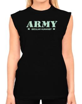 Army Secular Humanist T-Shirt - Sleeveless-Womens