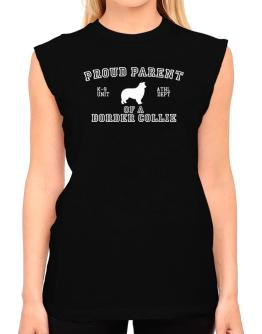 Proud Parent Of Border Collie T-Shirt - Sleeveless-Womens