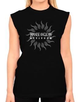 Japanese Anglican Attitude - Sun T-Shirt - Sleeveless-Womens