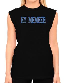 Hy Member - Simple Athletic T-Shirt - Sleeveless-Womens