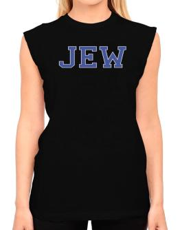 Jew - Simple Athletic T-Shirt - Sleeveless-Womens
