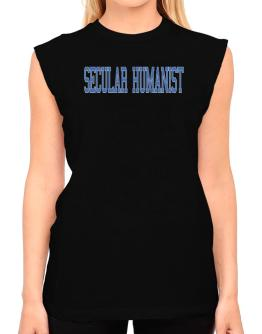 Secular Humanist - Simple Athletic T-Shirt - Sleeveless-Womens