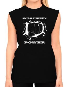 Secular Humanistic Power T-Shirt - Sleeveless-Womens